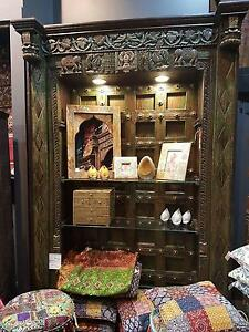 Stunning Indian Bookshelf Crafted from Antique Carved Door Bondi Junction Eastern Suburbs Preview