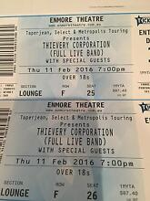 2 tickets to Thievery Corporation- amazing seats Sydney City Inner Sydney Preview