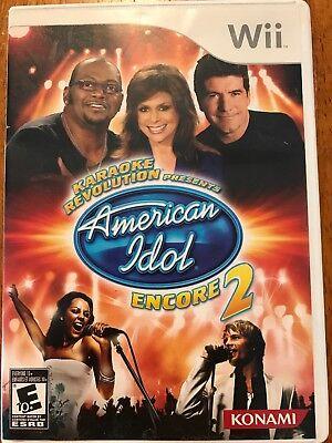Karaoke Revolution American Idol Encore 2 WII VIDEO GAME by Konami Complete Konami American Idol Games