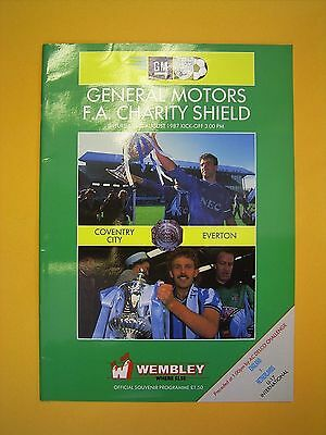 FA Charity Shield - Coventry City v Everton - 1st August 1987