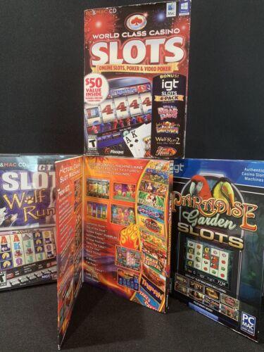 Computer Games - IGT Casino Slots Computer Games Pc Mac DVD/CD Rom Lot Of 4 Gambling