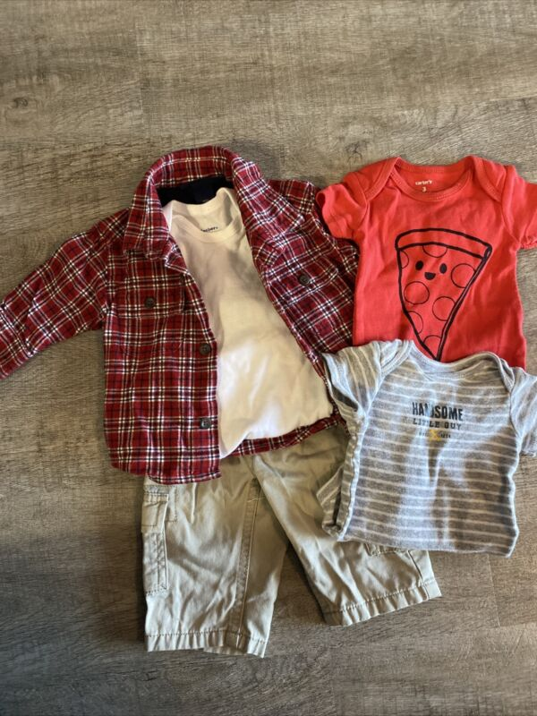 Baby Boy Osh Kosh, Childrens Place & Carters 5pc Lot, Size 3m, Soo Adorable!