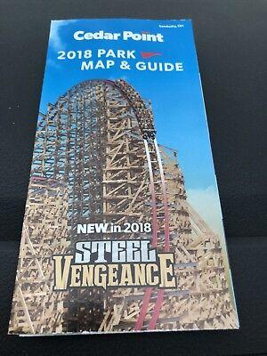 Cedar Point 2018 Park Map New Steel Vengeance