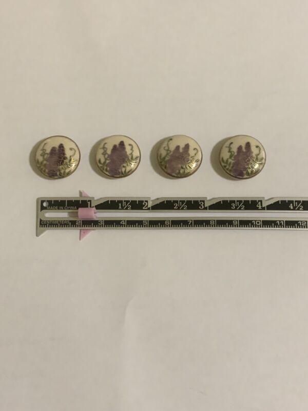 4 satsuma buttons, Wysteria