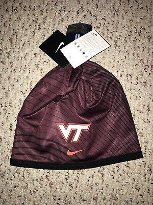 NWT Nike Virginia Tech Hokies Football Beanie Cap Virginia Tech Hokies Football