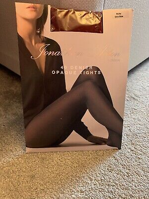 Jonathan Aston 40 Denier Opaque Tights RUBY One Size NEW