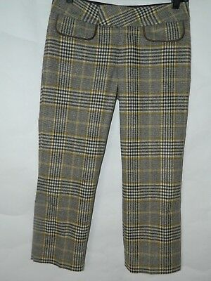 Alvin Valley Retro Yellow Pants Brown Yellow Plaid Crop Capri Menswear Sz 32 Menswear Crop Pants