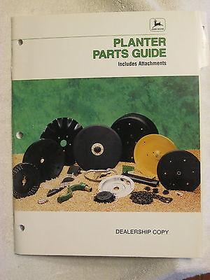 1996 John Deere Dealer Planter Parts Attachments Guide