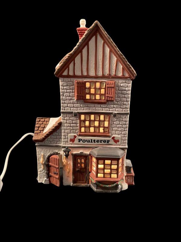 Vintage Department 56 Dickens Village POULTERER with Light #5926-9 Retired1988