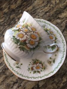 October Daisy China Tea Cup and Saucer