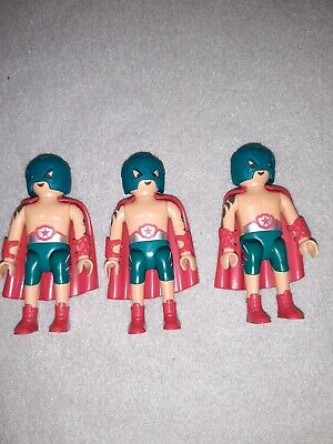 Playmobil Wrestler Ringer Maske Umhang Kostüm Figures Serie 14 9443