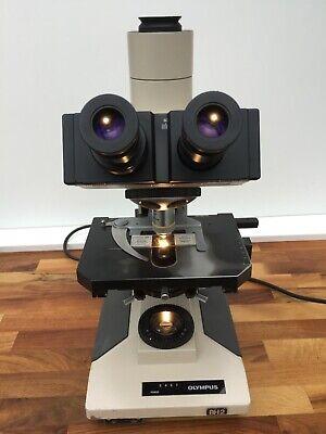 Olympus Microscope Bh2-bht Trinocular Whk10x Eyepieces 1.25 Abbe Condenser Lamp