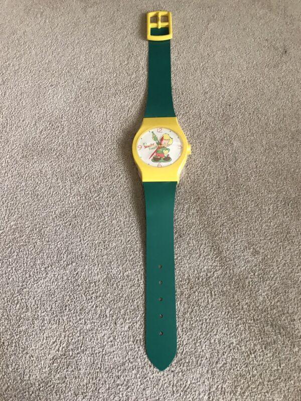 "1988 Squirt Soda Advertising Wristwatch Clock Rare Company Promo Large 56"" USA"