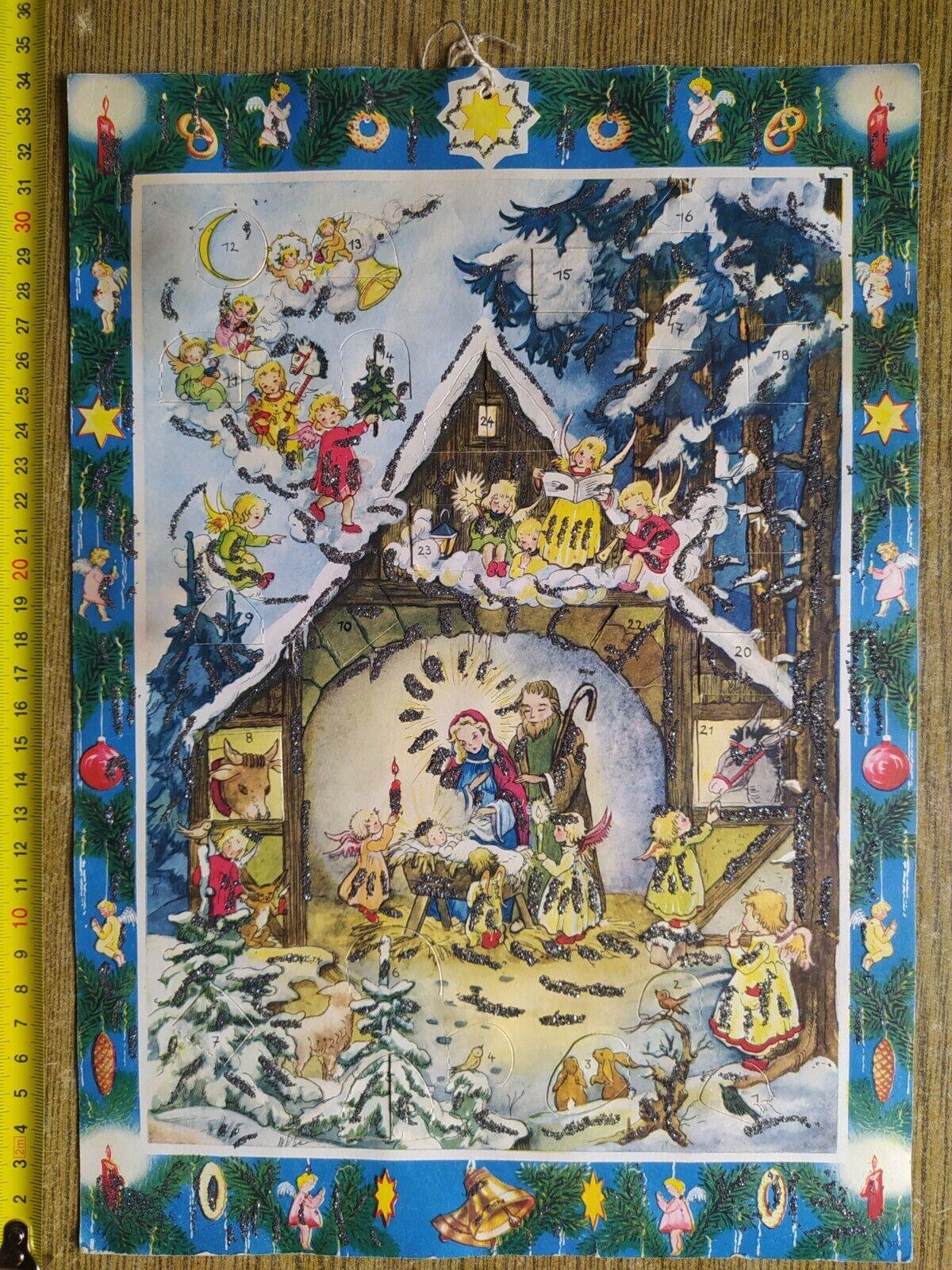 Alter Adventskalender, Weihnachtskalender  von 1959