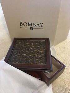 Wood Jewelry Box from Bombay