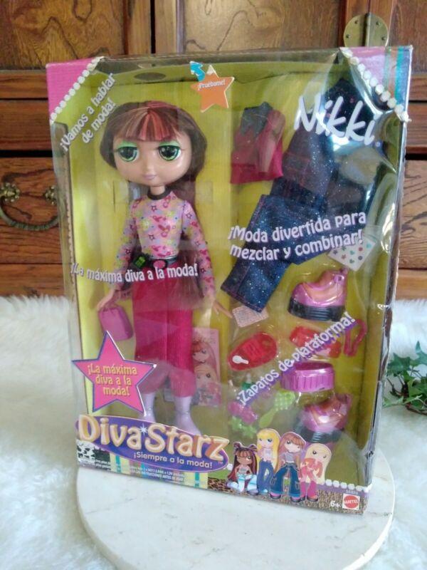 Diva Stars Nikki Spanish Speaking 2002 Mattel Doll In Box 56828