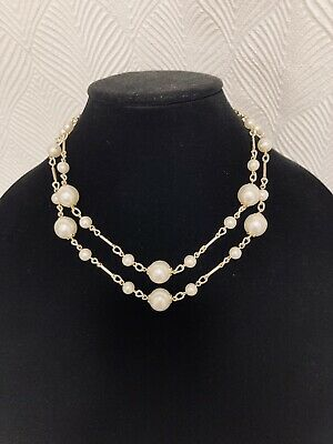 60s -70s Jewelry – Necklaces, Earrings, Rings, Bracelets Vintage 1950s-1960s Two Strand Pearl and Gold Necklace - Signed JAPAN $17.00 AT vintagedancer.com