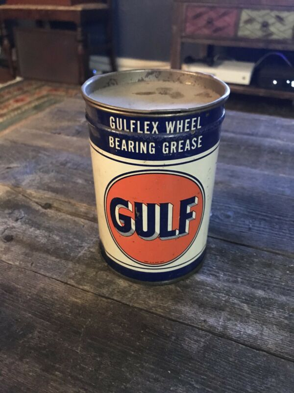 Gulf Gulflex Wheel Bearing Grease Vintage Can