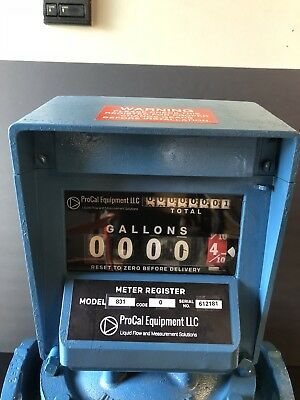 Neptune Meter Register Model 831-0 Warranty Oil Gas Fuel Petroleum Bio Diesel
