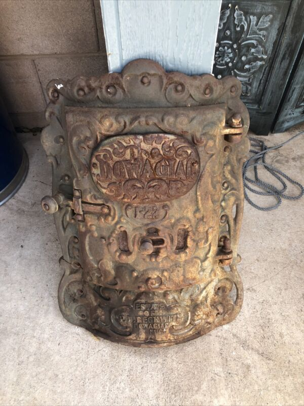 Antique Dowagiac I-22 Estate Beckwith Wood Burner Door Large Rare Rustic Decor