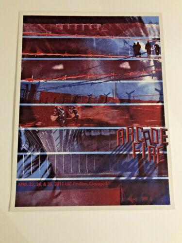 Arcade Fire Chicago 11 Burlesque Poster