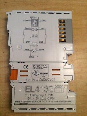 Beckhoff El4132 2-channel Analog Output Terminal 16-bit -10v..10v Load 5 Kohm