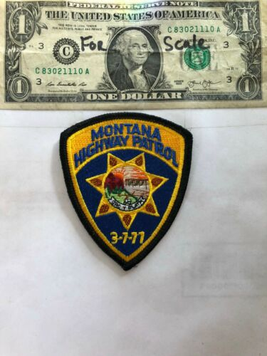Montana Highway patrol Police Patch in great shape (small Version)