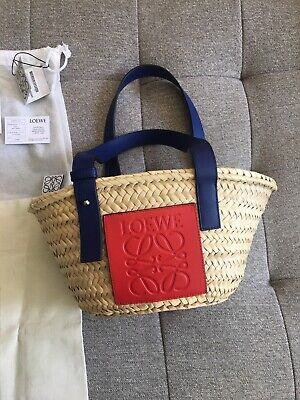 Small LOEWE Bag Straw Tote 100% Authentic