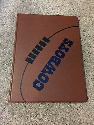 Dallas Cowboys Leather Notebook Folder Binder Brown Planner New
