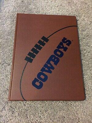 Dallas Cowboys Leather Notebook Folder Binder Brown Planner New