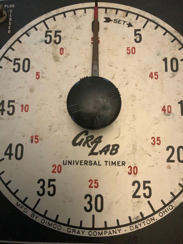 VTG Gralab Timer One Hour Model 165 120V 60Hz Tested Works Great