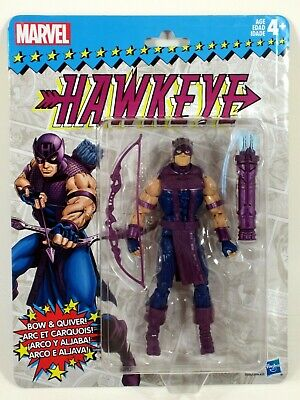 "Marvel Legends 2018 Vintage Retro Style 6"" HAWKEYE Wave 2 Action Figure MOC"
