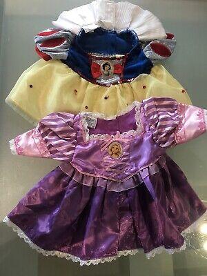 Build a Bear Disney Princess Snow White & Rapunzel Dresses