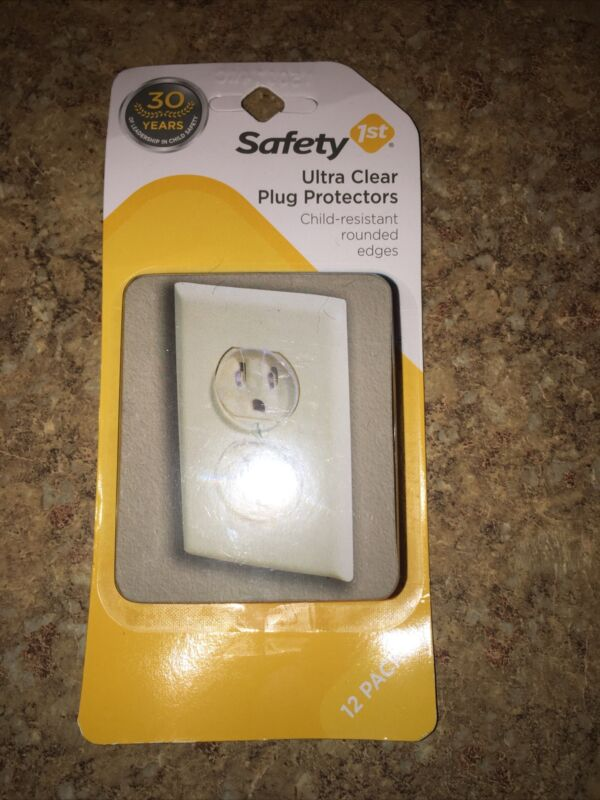 Safety 1st 01711, Ultra Clear Plug Covers, 12 Pack, Child Proof, FREE SHIPPING