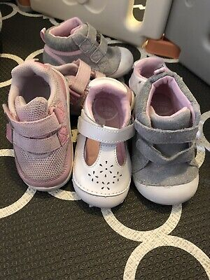 Stride Rite Lot Of 3 Pairs, Girls Shoes Size 4.5 (Amalie, Dash, Milo) Pre-owned
