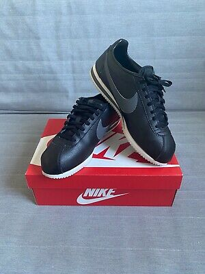 Nike Classic Cortez Leather Black and Grey UK11