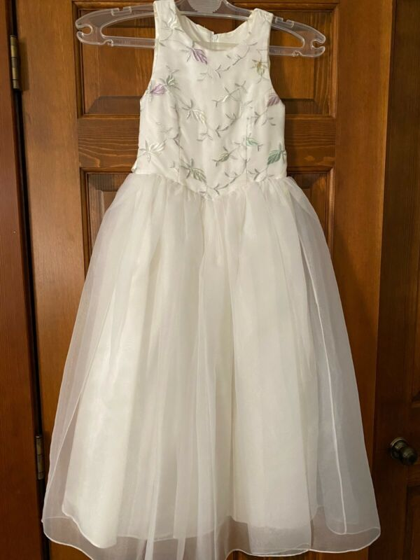 JESSICA McCLINTOCK White Formal Flower Girl Dress Size 7
