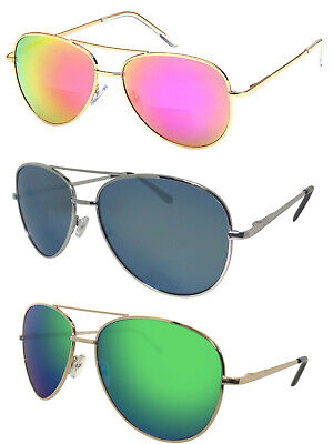 BiFocal Sunglasses Aviator - Color Mirror- Read Better, No One Will