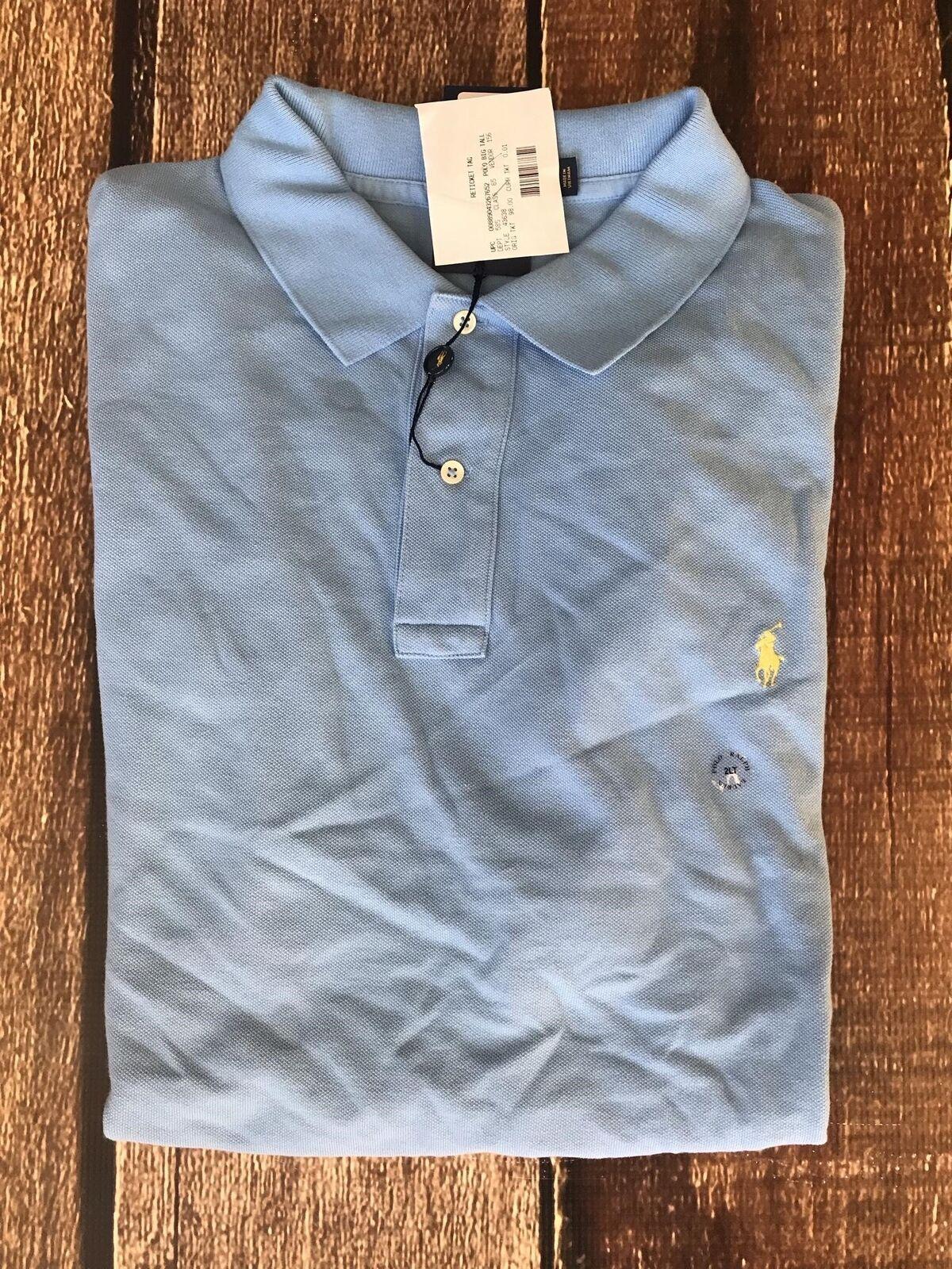 Ralph Lauren Polo Men/'s Big /& Tall Blue S//S Mesh Polo Shirt