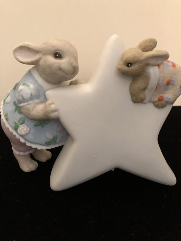 TERRAGRAPHICS NIGHT LIGHT - LIZ SHEPHERD RABBIT BABY ROOM NURSERY, VINTAGE