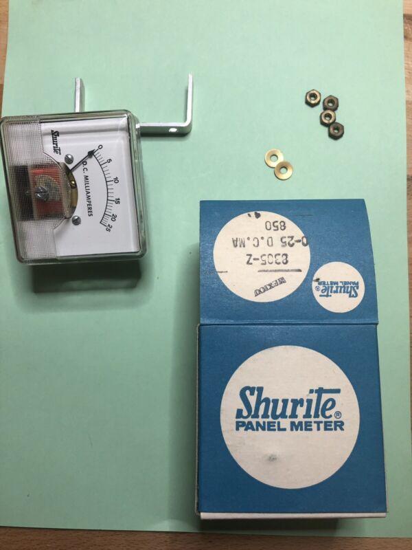 Shurite 8305-Z 0-25 MA DC Panel Meter