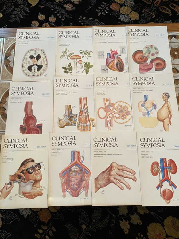 12 CIBA Clinical Symposia 1984-1986 Netter Illustrated VG
