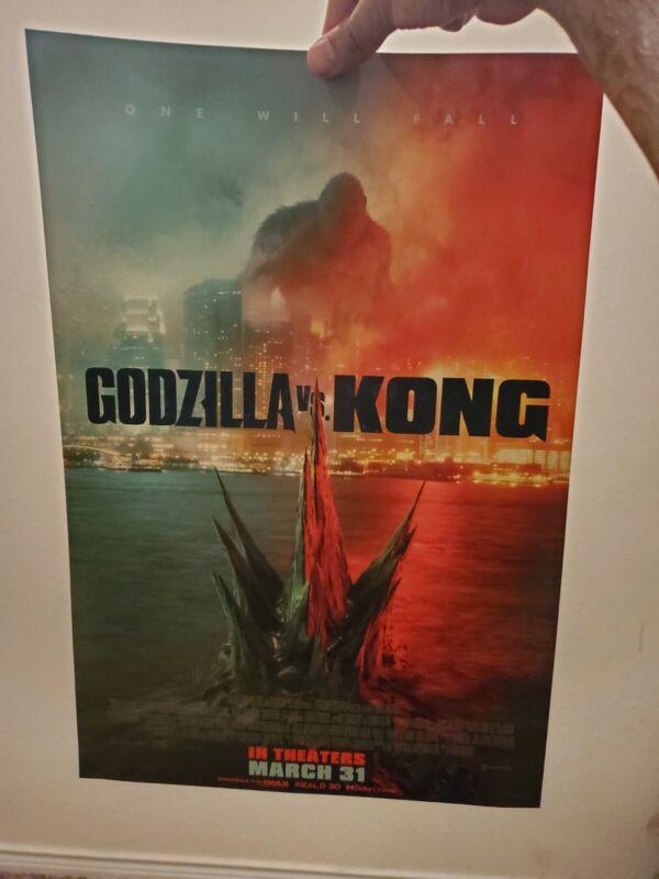 11 1/2 × 17in Godzilla vs. Kong Official Movie Poster.