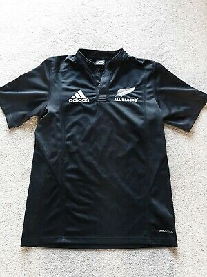 Mens New Zealand All Blacks Adidas Rugby Union Shirt Size Small Short Sleeve