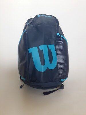 Wilson Burn Backpack Tennis Racquet Racket Bag Blue WRZ843796 Pockets