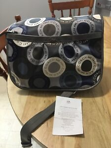 Authentic coach baby/overnight bag