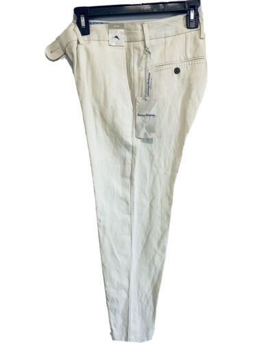 $145 Tommy Bahama Mens Monterey Flat Front Pants 30×30 Beige Silk Linen Beach Clothing, Shoes & Accessories