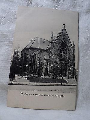 St. LOUIS MO Missouri Grand Avenue Presbyterian Church Postcard