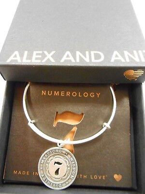 Alex And Ani Numerology Number 7 Expandable Bracelet Rafaelian Silver Nwtbc