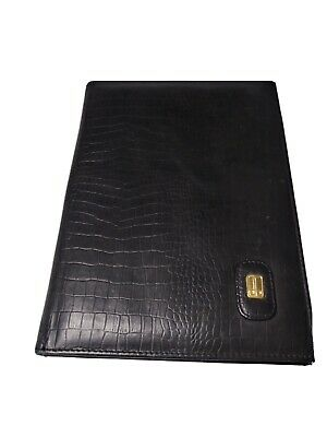 Vintage Dbrozzi Colombian Leather Portfolio Padfolio Croco Embossed Brown